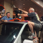 Olivier Léger and Carlos Ferrand mounting the camera on our camera-car in Shanghai