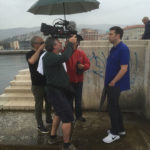 意大利特里斯特:尼古拉·扎维格利亚和奥利维尔·雷杰在拍摄吉斯·艾斯纳
