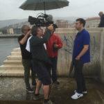 Nicola Zavaglia and Olivier Léger filming Keith Eisner in Trieste