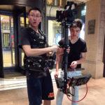 Steadicam operator Liu Zhongyuan and assistant in Shanghai
