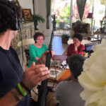 在美国西棕榈滩拍摄薇拉·萨森和周慧珍