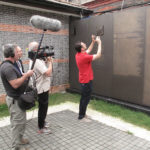 Filming Keith Eisner at the Shanghai Jewish Refugees Museum