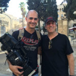 Cameraman Yanif Schmueli and René Balcer in Jerusalem