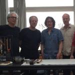In Xu Bing's studio in Beijing: l to r, Jesse Coffino, Nicola Zavaglia, René Balcer, Xu Bing, Carlos Ferrand, Olivier Léger.