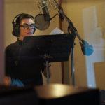 Julianna Margulies recording the narration