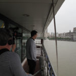 Filming Keith Eisner on the Huangpu River